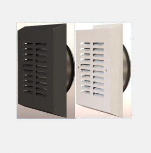 Funkis ventiler for Vifte - Avkast og Inntak