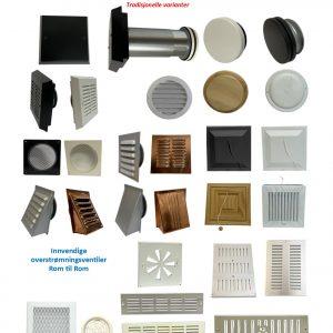 Basis Sortiment Bygnings Ventiler
